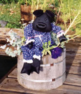 black piggy doll